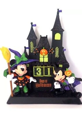 2015 Disney Parks Halloween Countdown Calendar Dracula Mickey Witch Minnie NEW
