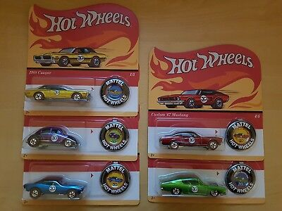 Canadian Set of Hot Wheels 50th Anniversary Redline Set of 5 Including Camaro