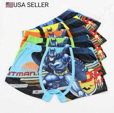 New 5 Pack Toddlers/Boys Cartoon Batman Boxer Briefs Underwear, Size S, M, L