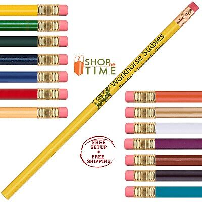 Customized #2 Pencil Printed With Your Company Information / Logo / Text 150 QTY