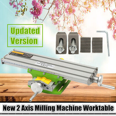 XY 2 Axis Compound Cross Slide Bench Drill Vise Milling Work Table Machine 6330