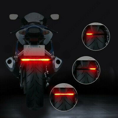 Multifunctions LED Motorcycle Strip Light Brake Tail Turn Signal License Plate