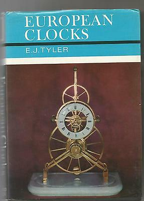 European Clocks E J Tayler  Vintage Hardback Clock Book 1968