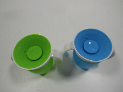 Munchkin Miracle 360 Trainer Cup, Green/Blue, 7 Ounce, 2 Count (H154286)