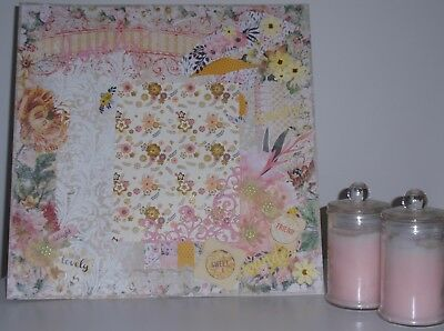 Handmade Scrapbook page - Flower Garden Delight