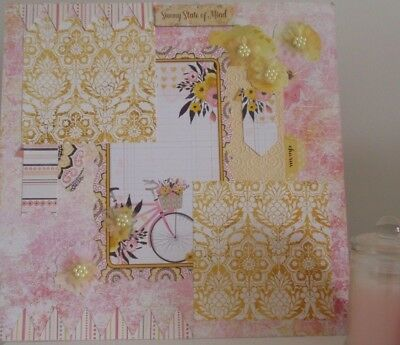 Handmade Scrapbook page - Sunny State of Mind
