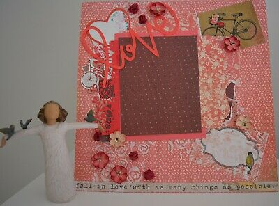 Handmade Scrapbook page - Fall in Love