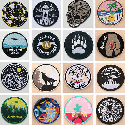 Embroidered Sew On Iron On Patch Badge Bags Hat Jeans Jackets Applique Crafts