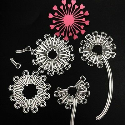 Dandelion Metal Cutting Dies Stencil for Scrapbooking Paper Card Embossing Decor