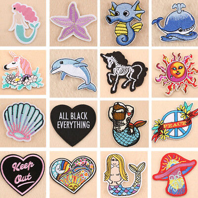 1pc Embroidery Sew Iron On Patch Badge Clothes Applique Bag Fabric DIY Crafts