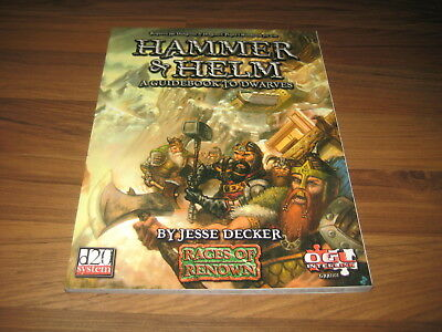 d20 Races Of Renown Hammer & Helm A Guidebook to Dwarves 2002 SC Green Ronin