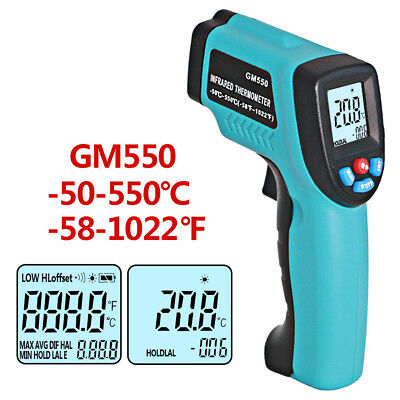 GM550 LCD Digital Infrared Thermometer Non-Contact IR Laser Bady Temperature Gun