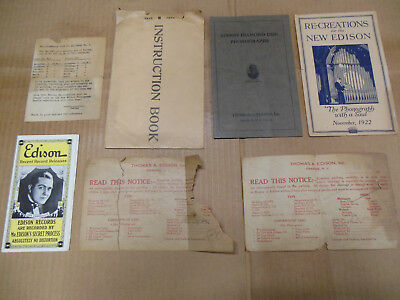 Collection of ORIGINAL EDISON EPHEMERA from the early 1900s Lot #1
