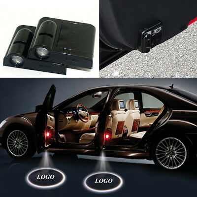 2x for FIAT Car Doors Welcome Light LED Logo Projector Ghost Shadow Laser Lights