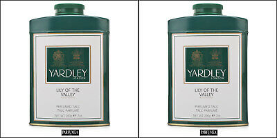 Lot de 2 - Yardley Lily Of The Valley  200g Talc parfumée 200 gr