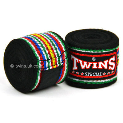 Twins Handwraps 5M Black CH-2 Stretch Boxing Muay Thai Kickboxing Striking