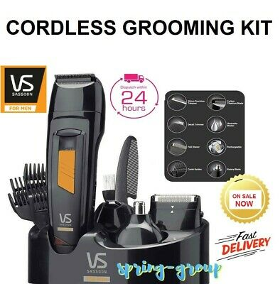 Vs Sassoon Beard Face Hair Clipper Trimmer Shaver Grooming Kit Cordless Electric