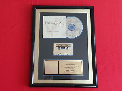 Tapestry Revisited  Gold Award Riaa Certified Sales Album Record Plaque