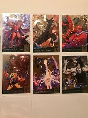 1994 Fleer Ultra X-Men FATAL ATTRACTIONS INSERT chase 6 Card Set! Very Rare!