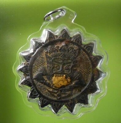Hot Rahu Om Moon Lp Noy Hindu Wealth Craft Pendant Thai Amulet