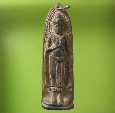 Perfect! Old Thai Buddha Amulet Phraruoang Over 800 Years