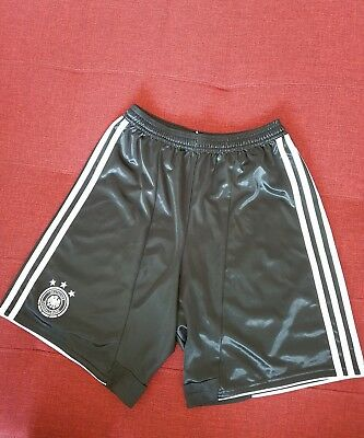 Adidas Germany Size 15/16 Yrs Home Shorts Juniors Black Football Soccer