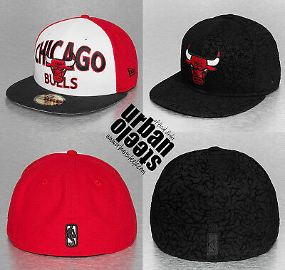 Lote 2 x gorras planas NEW ERA 59fifty Chicago Bulls NBA fitted hat cap  joblot 0c41013bee9