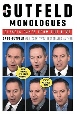 The Gutfeld Monologues: Classic Rants from the Five-Greg Gutfeld-Hardcover-NEW