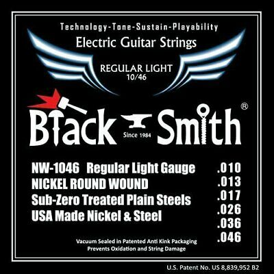 Electric Strings BlackSmith NW1046, Nickel Round Wound, Regular Light 010-046