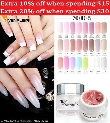 Venalisa Thick Builder Gel Nail Extension UV Gel Nails Cover Soak Off Hard Jelly