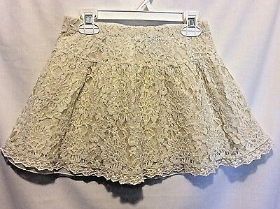 My Ruum Girl's Ivory Lace Skirt Size 10 Fully Lined Excellent Shape Ships Free