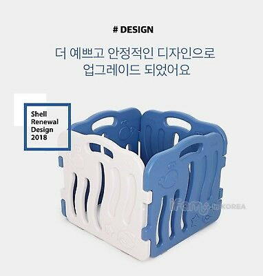 [IFAM] 2018 New Color Shell Baby Room Self Baby Room Standing Fence - Blue,Beige