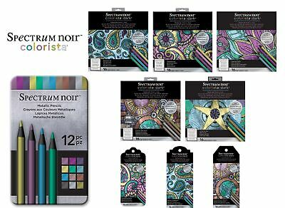 Spectrum Noir COLORISTA Dark Pencils & Pads / Colouring Books / Bookmarks
