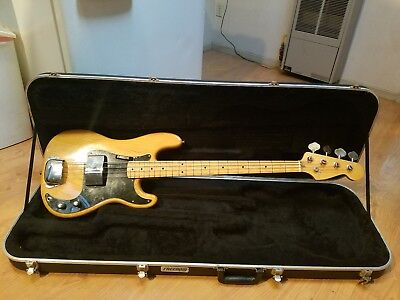 1978 Fender Precision Bass with an All Parts Maple Neck; comes with a hard case