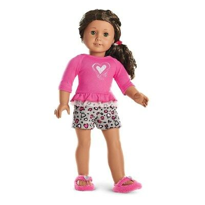 American Girl Truly Me Lovely Leopard PJ's Set For 18-inch Dolls