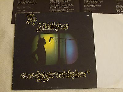 IAN MATTHEWS - Some Days you eat the Bear and... LP Elektra Records 1974