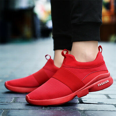 Fashion Men's Mesh Casual Running Sport Shoes Man Breathable Flats Slip on Shoes