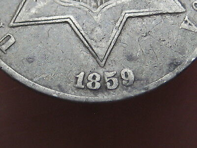 1859 Three 3 Cent Silver Trime- Type 3