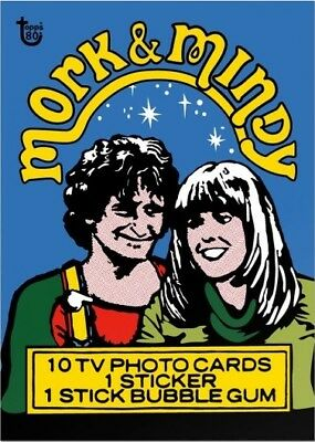 2018 Topps 80th Anniversary Wrapper Art Card #67 - 1978 Mork & Mindy