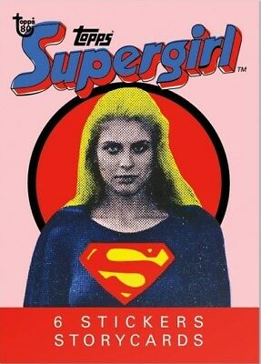 2018 Topps 80th Anniversary Wrapper Art Card #69 - 1984 Supergirl