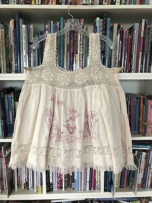 1db60f3c899 MAGNOLIA PEARL LACE And Embroidery Cream Baby Doll Top