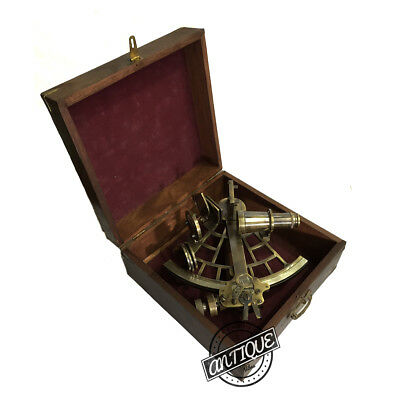 Vintage Marine Direction Old Working Instrument Sextant Astrolabe Ship Sextants