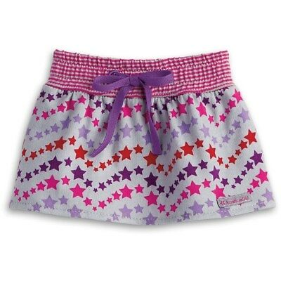 American Girl Gray Star Skirt with Purple Waist Bow For 18-inch Dolls