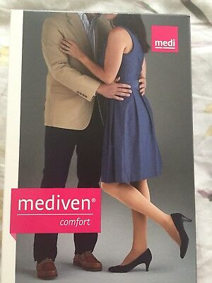 New! Medi Mediven Comfort Thigh Highs Open Toe Natural 30-40 Size 2