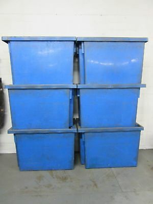 6 X Large Heavy Duty Industrial Storage Container / Warehouse Plastic Boxes