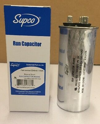 4x 45//5 MFD 440 Volt Dual Round Run Capacitor for Carrier 38tkb042300 319186-702