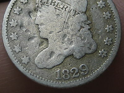 1829 Capped Bust Half Dime- Good/VG Details, Full Date