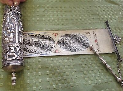 Antique Sterling Jewish Megillah & Yad