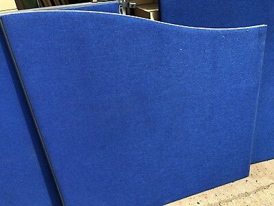 Blue Floor Standing Screens Partition Room Dividers Office Furniture