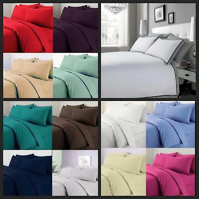 Luxury 200TC 100% Egyptian Cotton Duvet Quilt Cover Bedding Set | All Sizes